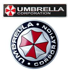 2pcs Umbrella Corporation Emblem Resident Evil Car Auto Sticker Decal Badge