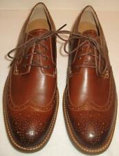 SPERRY TOP-SIDER Annapolis Wingtip Oxford  Leather  Dark Tan  US 9  NEW
