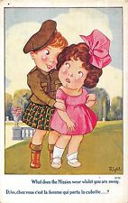 POSTCARD  COMIC   CHILDREN  What does the  Missies  wear.....