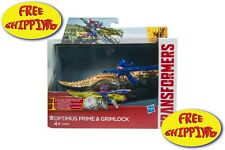 TRANSFORMERS OPTIMUS PRIME & GRIMLOCK PULL BACK ACTION-FREE SHIPPING
