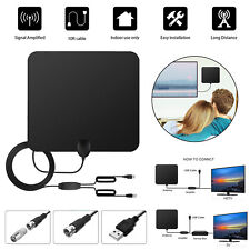 HDTV 1080P Antenna Indoor HD Digital TV Antenna w/ 80 Miles Long Range Amplifier