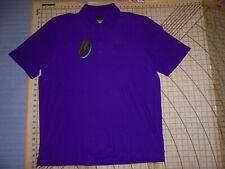 MENS LARGE PURPLE GREG NORMAN TORREON/TROON POLO SHIRT - NWT