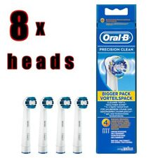 8 x Genuine Oral-B Precision Clean Electric Toothbrush Heads EXPRESS DELIVERY !!