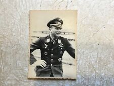 WW2 KGB PHOTO Luftwaffe ACE ALEXANDER  GLASER   KNIGHTS IRON CROSS