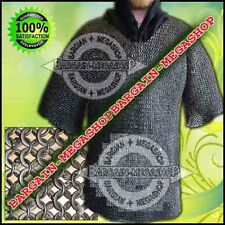 MS Chain Mail Round Riveted Ring with Flat Washer Chainmail Haubrgeon Costume