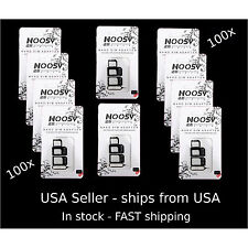 100 X iPhone & Tablet - Apple Samsung  NOOSY 3 Nano  &Micro SIM Card Adapter kit