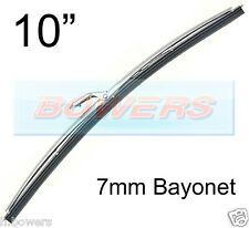 "10"" INCH STAINLESS STEEL NOT CHROME CLASSIC CAR WIPER BLADE 7mm BAYONET FITTING"