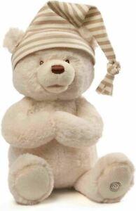 "GUND Animated Goodnight Prayer Bear Spiritual Plush 15"""