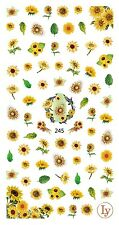 Large Sheet Sunflower Nail Decals 3D Nail Art Sticker for Nail Gel Polish
