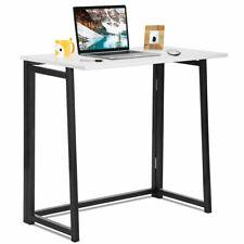 Folding Computer Desk Table Laptop PC Writing Study Workstation White