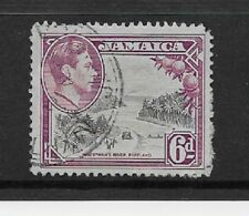 Jamaica Stamps- Scott # 123/A41-6p-Canc/LH-1938-51-NG