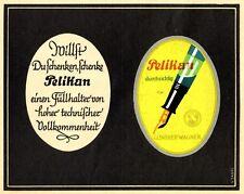 Pelikan Füller durchsichtig Reklame von 1935 Werbung