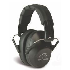 Walkers Pro Low Profile Folding Ear Muff (Black) - Passive Hearing Protection GW