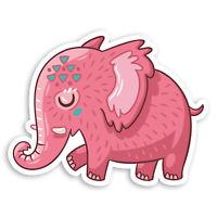 2 x 10cm Cute Pink Elephant Vinyl Stickers - Kids Fun Laptop Sticker #34232