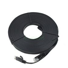 CAT6 15M 49ft RJ45 Ethernet Network LAN Internet Cable Flat UTP Patch Router BLK