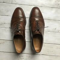 Johnston & Murphy Optima Men's Sz 9.5 Brown Leather Oxford Dress Shoes USA Made