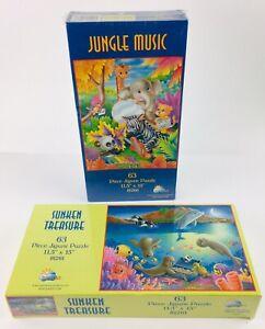 Jungle Music & Sunken Treasure Sea life 63 Piece Jigsaw Puzzles By SunsOut