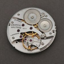 Waltham Colonial Movement For Parts Repairs 17j 5 Adjustments USA Watchmakers