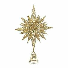 Gold Glitter Wire 3d Star Christmas Tree Topper 16.5 Inches D3342