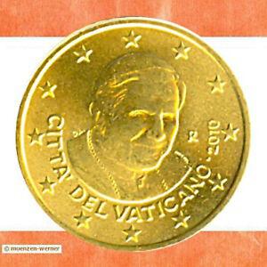 Kursmünzen Vatikan: 50 Cent Kursmünze 2010 Papst Benedikt XVI Euro Münze