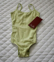 Mirella Girl's Light Green Dance Camisole Ballet Leotard Size 6X-7 NEW WITH TAG
