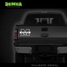 "Michigan Wolverines - NCAA -  Truck Tailgate Decal White Vinyl Sticker - 10"""