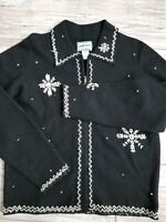 Excellent! Womens PENDLETON Originals 100% Wool Embroidered Snowflake JACKET M