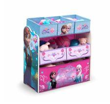 Kids Disney FROZEN TOY BOX Anna +Elsa ROOM ORGANIZER Storage Bins Bed Room Decor