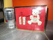 2004 Lenox Holiday Teddy & Present Salt & Pepper Shakers with Box