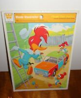 Vintage Woody Woodpecker Car Frame Tray Puzzle 1977 4515C Whitman U.S.A. Paint