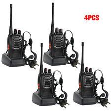 4 x Baofeng BF-888S Long Range Walkie Talkie UHF 400-470MHZ 2-Way Radio 16CH