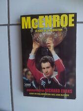 John McENROE la rage de la perfection - biographie par Richard Evans 1982
