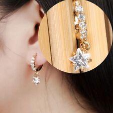 Earring Vintage Star Drop Dangle Design Inlaid Cubic Zirconia Elegant Jewelry