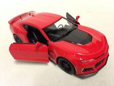 "2017 Chevrolet Camaro ZL1, 5"" Diecast 1:38 PullBack Kinsmart Toy Boys Girls Red"