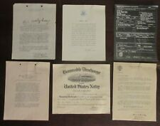 1946 U.S. Navy Honorable Discharge Certificate & 5 Other Related Documents, Vg