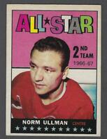 1967-68 Topps Detroit Red Wings Hockey Card #132 Norm Ullman AS