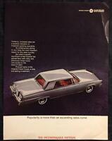 Original 1965 CHRYSLER Imperial Crown Coupe AD Full Color Vintage Advertisement