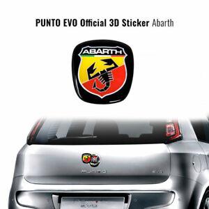 Adesivo Abarth 3D Ricambio Logo per Fiat Punto Evo