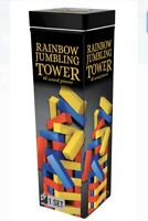 Wooden Rainbow Jumbling Tower, 48 Pieces - Cardinal Free Shipping!