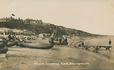 PC55236 Beach Looking East. Bournemouth. RP