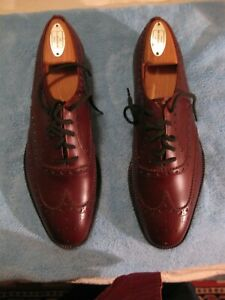 CHURCH'S CUSTOM GRADE Brown Wing Tip SHOES UK size 7D US size 8D NOS