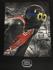 Hebru Brantley Heat of The Bull T Shirt Michael Jordan Flyboy Sz XXL  Sold Out