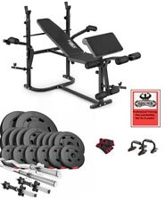 Power TreX set 125 kg Barbells Dumbbell Bench Home Gym