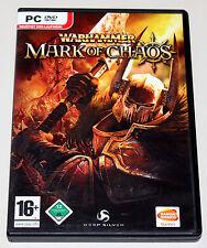 Warhammer-Mark of Chaos-PC-DVD funda & inflexión cover & manual-como nuevo