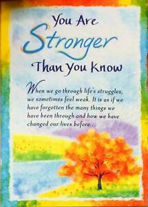 Blue Mountain Arts Sentimental Greeting Card: Encouragement - You are Stronger