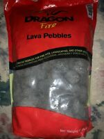 Decorative Lava Pebbles by Dragon Fire, use in Firepits, Landscaping - 10LB bag