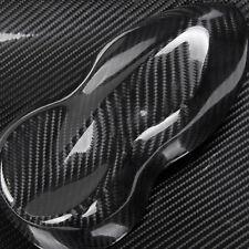 "5D Ultra Shiny Glossy Black Carbon Fiber Vinyl Wrap Sticker Decal Trim 12""x60"""