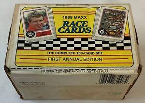 1988 MAXX Race Cards ~ NASCAR ~ FULL COMPLETE SEALED SET