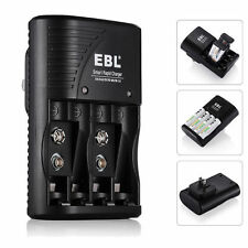 EBL 4 Slot Battery Charger For AA AAA 9V NiMH NiCD Li-ion Rechargeable Batteries