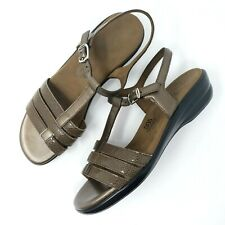 62339907d0a SAS Tripad Comfort Womens Brown Strappy Wedge Ankle Strap Sandals Size 9  Narrow